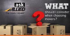 What to consider when choosing movers