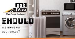 Ask Allied: Should we move our appliances?