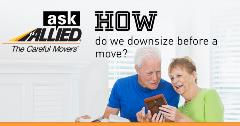 Ask Allied: How do we downsize before a move?