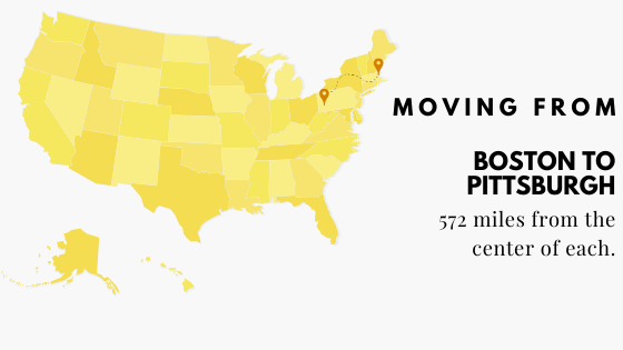 Moving From Boston to Pittsburgh