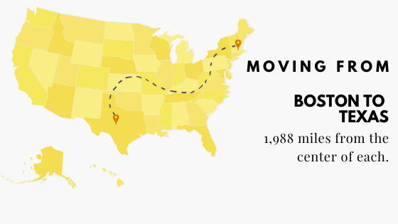 Moving from Boston to Texas