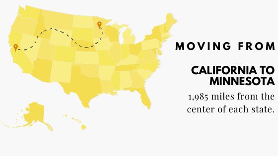 California to Minnesota