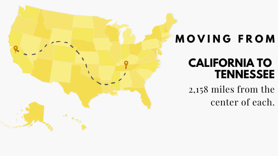 Moving from California to Tennessee