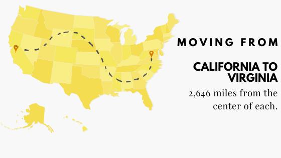 California to Virginia