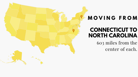 Moving from Connecticut to North Carolina