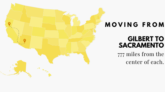Moving to Sacramento from Gilbert