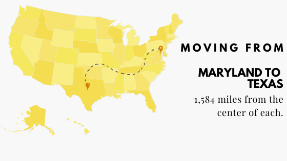 Moving from Maryland to Texas