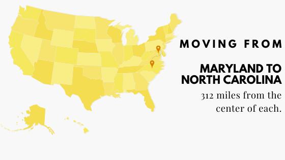Moving from Maryland to North Carolina