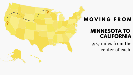 Moving from Minnesota to California