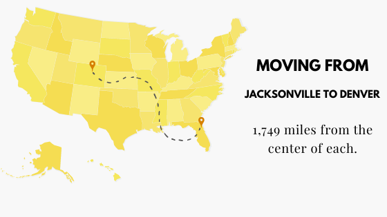 Moving from Jacksonville, FL to Denver, CO