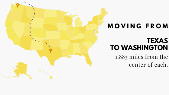 Moving from Texas to Washington