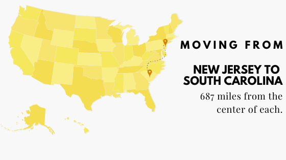 Moving from New Jesrsy to South Carolina