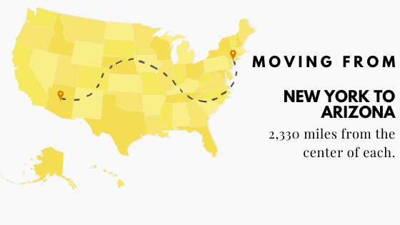 Moving from New York to Arizona