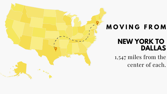 Moving from New York to Dallas