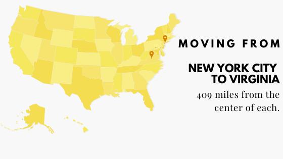 Moving from NYC to VIrginia
