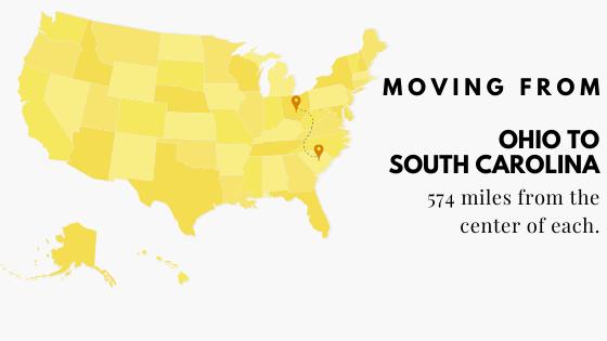 Moving from Ohio to South Carolina