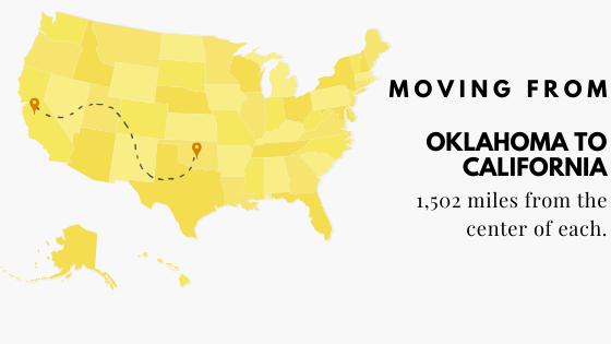 Moving form Oklahoma to California