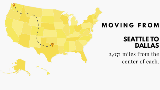 Moving to Dallas from Seattle