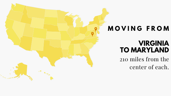 Moving from Virginia to Maryland