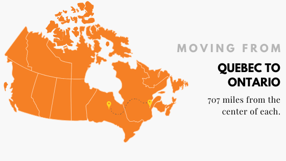 Moving Quebec to Ontario