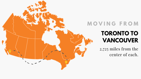 Moving from Toronto to Vancouver