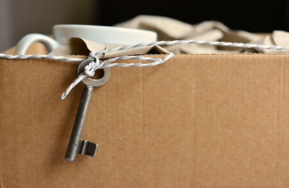 Box of moving items