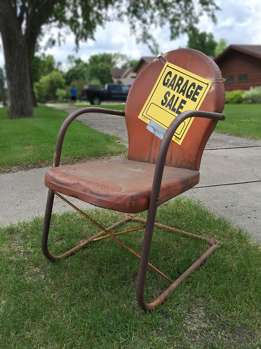 Chair at a garage sale
