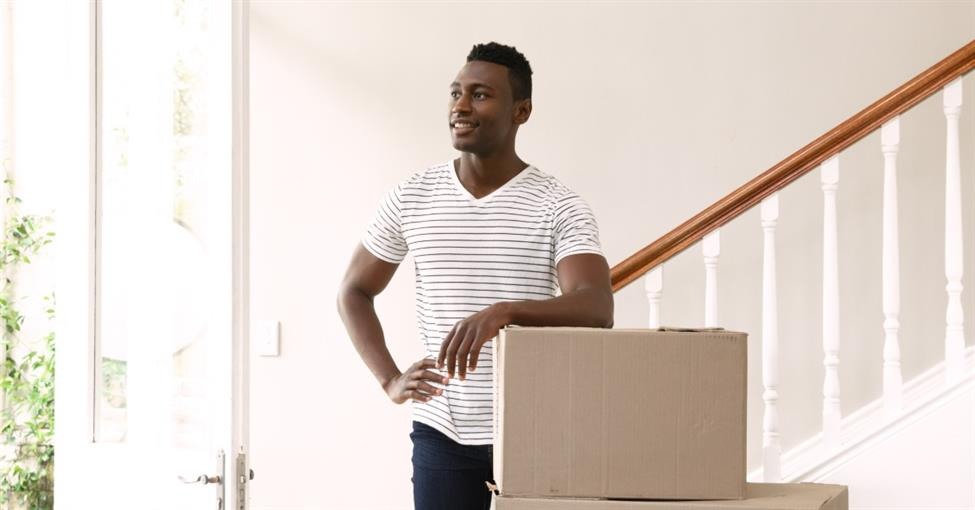 Man moving during the summer