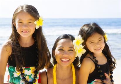 Hawaiian Polynesian Family