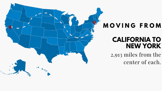 Moving from California to New York