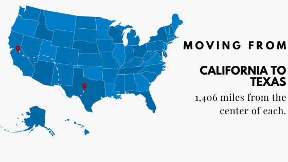 Moving from California to Texas