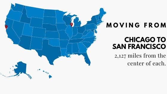 Moving from Chicago to San Fran