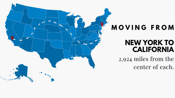 Moving from New York to California