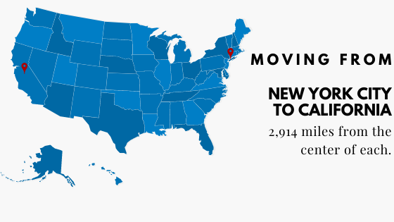 Moving from NYC to California